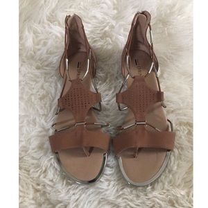 NEW Call It Spring Brown Silver Gladiator Sandals